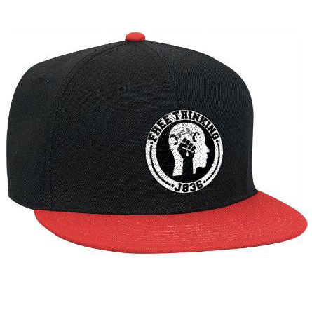 Black and red Free Thinking Snapback