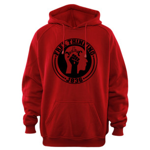 Red Free Thinking Hoodie