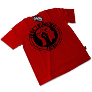 Red Free Thinking Tee